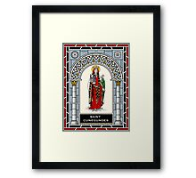 ST CUNEGUNDES THE EMPRESS under STAINED GLASS Framed Print