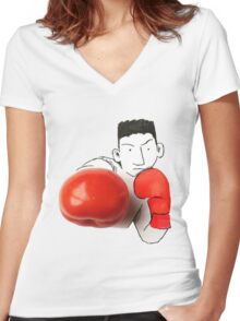 Boxe Women's Fitted V-Neck T-Shirt