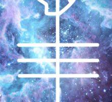Skeleton/Alien space Clique Sticker