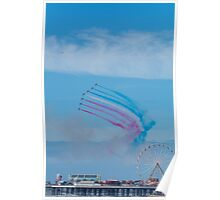 The Red Arrows At Blackpool.  Poster
