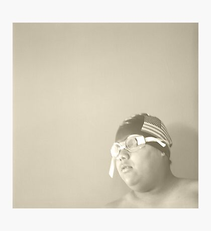 Swim Cap and Goggles Photographic Print