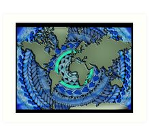 World Oceans Mandala Art Print