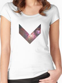 Orion Nebula Chevron Space Women's Fitted Scoop T-Shirt