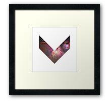 Orion Nebula Chevron Space Framed Print