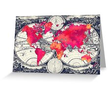 World map 10 Greeting Card