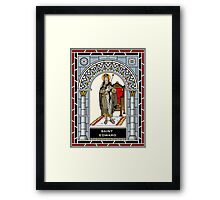 ST EDWARD THE CONFESSOR under STAINED GLASS Framed Print