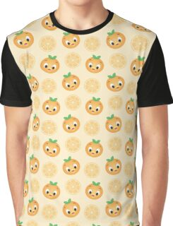 Little Orange Bird Pattern Graphic T-Shirt