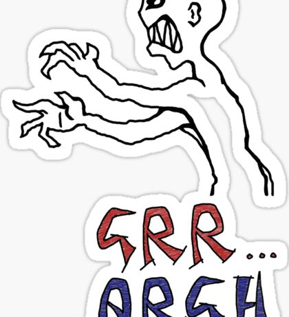 grr...argh with colour Sticker