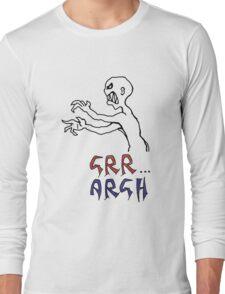 grr...argh with colour Long Sleeve T-Shirt