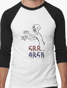 grr...argh with colour Men's Baseball ¾ T-Shirt