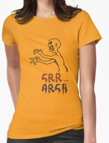 grr...argh with colour Womens Fitted T-Shirt