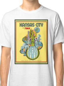 """TWA AIRLINES"" Fly to Kansas City Print Classic T-Shirt"
