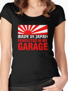 Made In Japan PERFECTED IN MY GARAGE (1) Women's Fitted Scoop T-Shirt