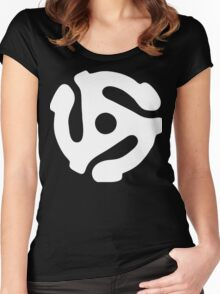 45 rpm vinyl adapter Women's Fitted Scoop T-Shirt