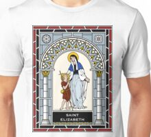 ST ELIZABETH, MOTHER OF ST JOHN THE BAPTIST under STAINED GLASS Unisex T-Shirt