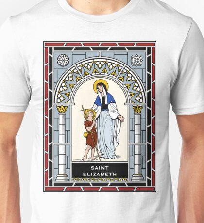 ST ELIZABETH, MOTHER OF ST JOHN THE BAPTIST under STAINED GLASS Unisex T-Shirt