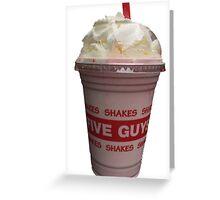 Five Guys Milkshake Greeting Card