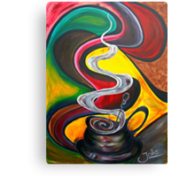 Ode to Coffee.. Canvas Print