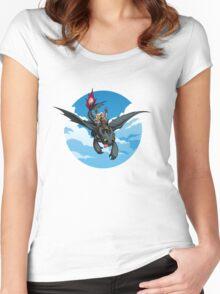 Toothless Targaryen Blue Women's Fitted Scoop T-Shirt