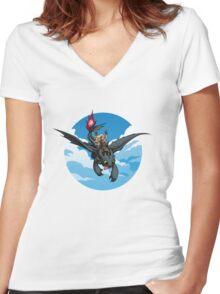 Toothless Targaryen Blue Women's Fitted V-Neck T-Shirt