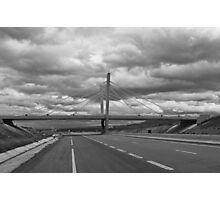 Bridge on a cloudy day Photographic Print