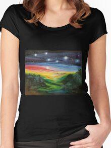 Geris Stars Women's Fitted Scoop T-Shirt
