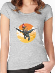 Toothless Targaryen Orange Women's Fitted Scoop T-Shirt