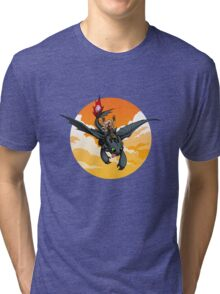 Toothless Targaryen Orange Tri-blend T-Shirt