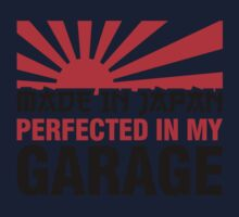 Made In Japan PERFECTED IN MY GARAGE (3) Kids Tee