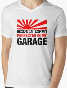 Made In Japan PERFECTED IN MY GARAGE (3) Mens V-Neck T-Shirt