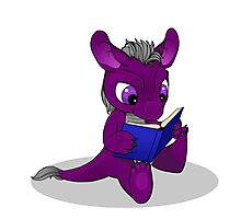 Perse Lectio, the little ACE dragon Photographic Print