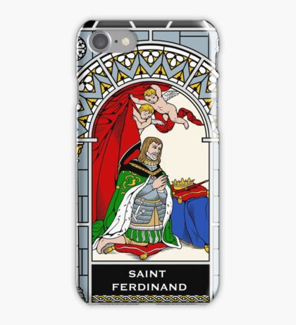 ST FERDINAND OF CASTILE under STAINED GLASS iPhone Case/Skin