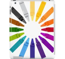 Colorful Pastels for Kids in hand-drawn Style. iPad Case/Skin
