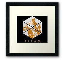 Destiny - Titan by AronGilli Framed Print