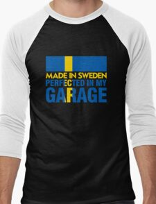 Made In Sweden PERFECTED IN MY GARAGE Men's Baseball ¾ T-Shirt
