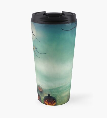 halloween,pumpkins,bats,crows,desolate forest,dark and gloomy Travel Mug