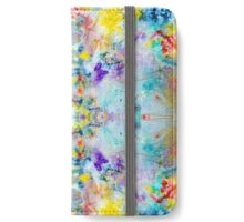 Eye catching vibrant colorful abstract symmetrical ink design pattern iPhone Wallet/Case/Skin