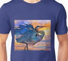Heron Sunset Unisex T-Shirt