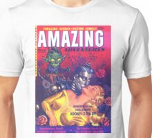 Amazing Adventures - Love Robot Invasion - Classic Comic Art Unisex T-Shirt