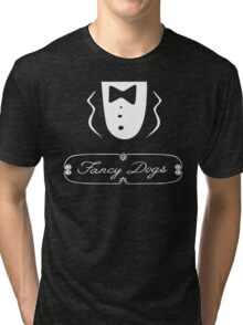 Fancy Dogs at a Sausage Party. Tri-blend T-Shirt