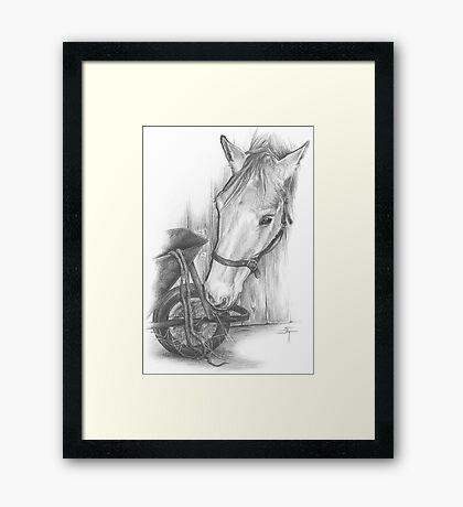 Nosey Parker Framed Print