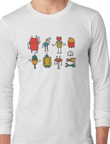 Retro robots Long Sleeve T-Shirt