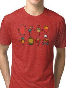 Retro robots Tri-blend T-Shirt