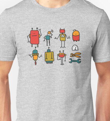 Retro robots Unisex T-Shirt