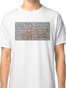greek ancient writing Classic T-Shirt