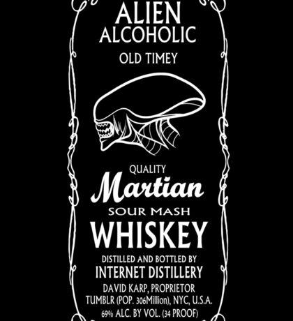 Alien Alcoholic Whiskey Logo Sticker