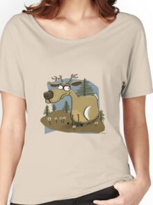 The Happy Deer Women's Relaxed Fit T-Shirt