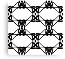 Black and white abstract geometric pattern Canvas Print