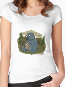 Honey Bear Women's Fitted Scoop T-Shirt