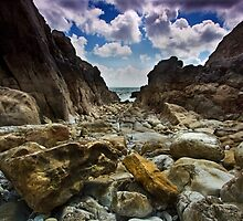 Stoney Cove Below Lydstep Head,Pembrokeshire by Mark Haynes Photography